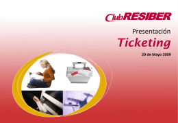 Club Resiber Ticketing