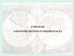 los instrumentos fundamentales