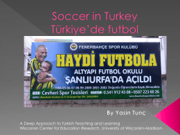 Soccer in Turkey/Türkiye`de futbol