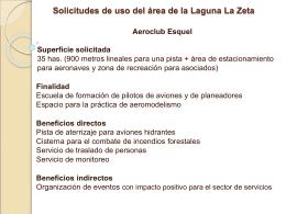 Solicitudes de uso del área de la Laguna La Zeta