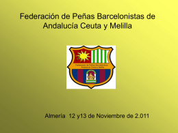 Federación de Peñas Barcelonistas de Andalucía Ceuta y Melilla