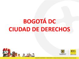 bogotá dc ciudad de derechos - Corporación Viva la Ciudadanía