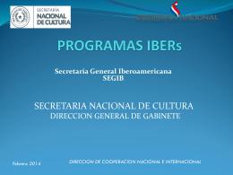 2014 - Secretaría Nacional de Cultura
