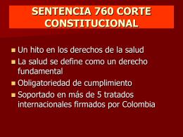 sentencia 760 corte constitucional