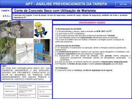 APT 06 - Corte de Concreto Seco com Utilização de Martelete