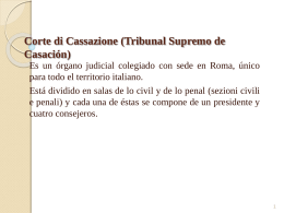 Corte di Cassazione (Tribunal Supremo de Casación)