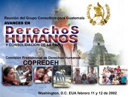 Avances en Derechos Humanos y Consolidación de la Paz