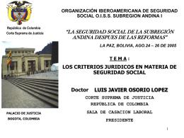 República de Colombia Corte Suprema de Justicia