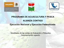 Programa Acuacultura y Pesca Ejecución Nacional