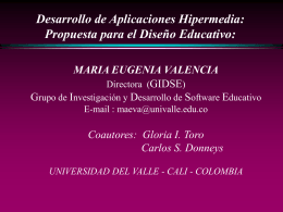 Diseño Educativo - Universidad del Valle