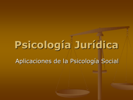 Psicología Jurídica - Social