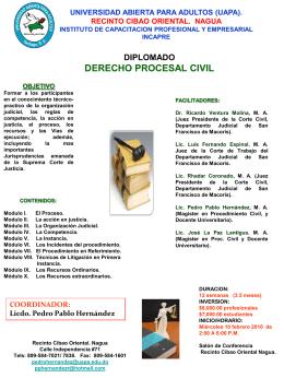 BROSHURE III CIVIL - Universidad Abierta Para Adultos