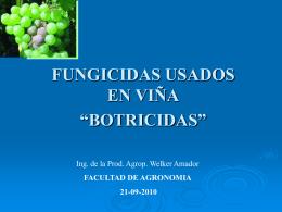botricidas - Facultad de Agronomía