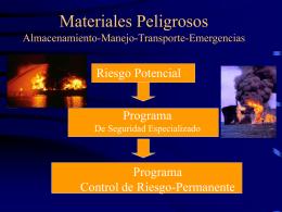 Materiales Peligrosos Alm-Manejo-Transp