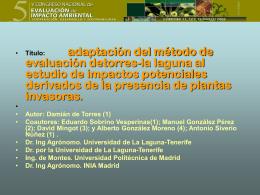 Plantas alóctonas -Invasoras en Canarias