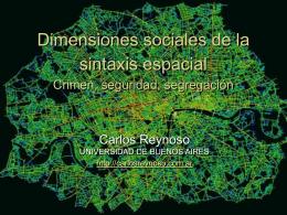 Dimensiones sociales de la sintaxis espacial
