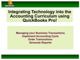 Why QuickBooks?
