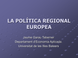 politRegional - Universitat de les Illes Balears