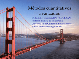 Advanced Quantitative Methods in Spanish