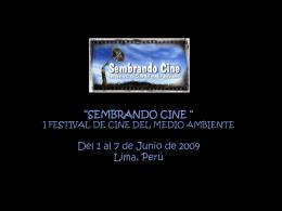 Slide 1 - Sembrando Cine 2015