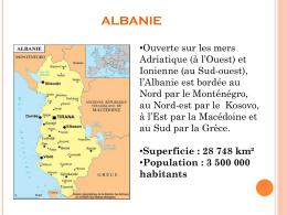 Présentation des Alliances Françaises d`Albanie