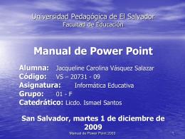 Manual de Power Point Alumna