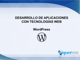 U3 – Instalación de WordPress