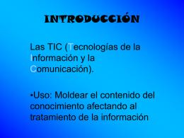 Alfabetización TIC - antonio