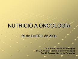 Nutrición en oncologia.