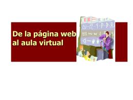 de la pagina web al aula virtualx