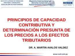 Martin Avalos Capacidad Contibutiva y Determinacion