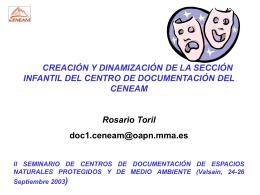 CREACIÓN Y DINAMIZACIÓN DE LA SECCIÓN INFANTIL DEL