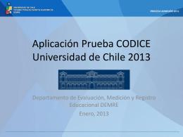 Informativo Estudiantes Prueba CODICE 2013