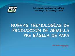 Tecnología de Producción de Semilla Pre