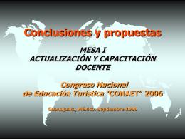 i conclusiones actualización docente 06