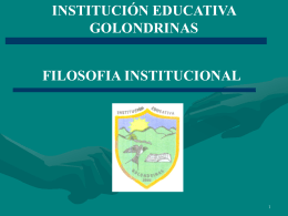 Documento - Institución Educativa Golondrinas