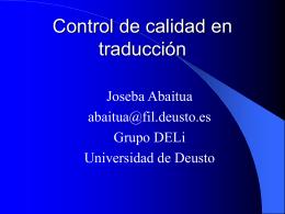 Otras rutas - Universidad Deusto