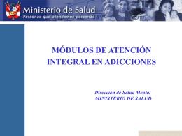 alcoholismo - Ministerio de Salud