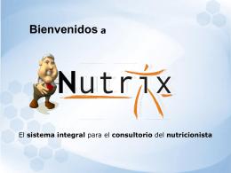 NUTRIX: Sistema Integral de Nutrición