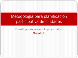 Metodología plan estratégico de Posadas 2022