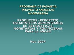 programa de pasantia proyecto andestad monografía