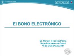 Bono Electrónico - Superintendencia de Salud
