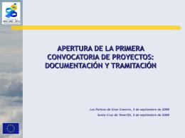 """Presentación """"Apertura de la 1ª Convocatoria PCT MAC 2007"""