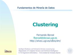 Clustering - Fernando Berzal