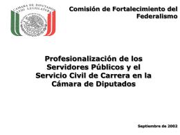 La Profesionalización en el Poder Legislativo
