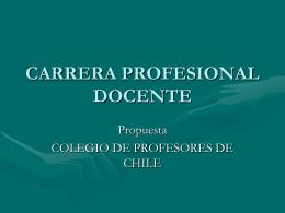 Presentación Carrera Docente Colegio de Profesores