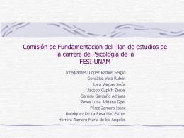 Comisión de Fundamentación del Plan de estudios de la carrera de