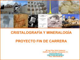 CRISTALOGRAFÍA Y MINERALOGÍA PROYECTO FIN DE CARRERA