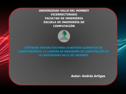 Diapositiva 1 - Universidad Valle del Momboy