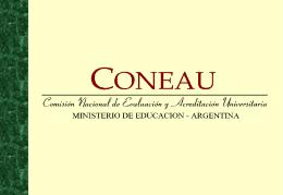 Transparencias CONEAU - Universidad de Mendoza